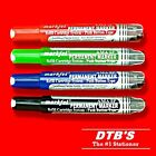 4X QUALITY PERMANENT MARKER PENS BLACK/BLUE/RED/GREEN ASSORTED INK BULLET/CHISEL