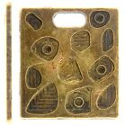 Square Disc Charm Steampunk Style Antique Brass 2pcs or 10pcs (040)