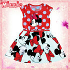 Reds Minnie Mouse Princess Birthday Party Outfit Girls Dresses AGE 1-2Y-3-4-5-6Y