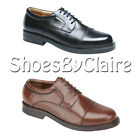 Mens New Wide Fitting Black / Brown Leather Oxford Smart Shoes 6 - 14