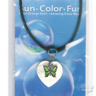 Butterfly Mood Necklace Choker UV Shell Magic Heart Pendant Color Changing New