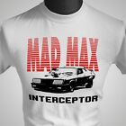 Mad Max MFP Interceptor Retro Movie T Shirt V8 Car Pursuit White