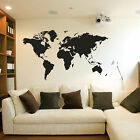 World Map Wall Stickers / Wall Decals Vinyl Art Decals EXTRA LARGE 200cm x 120cm
