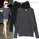 Annakastle New Womens Jersey Dolman Sleeve Pocket Top Sweatshirt Tee Size S - M