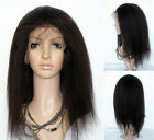 "14"" - 22"" long Indian Remy Human Hair Lace Front / Full Lace Wig KINKY Straight"