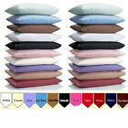 1000TC 100% Egyptian Cotton Soft Solid Pillow Case Pair Choose UK Sizes & Colors