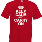 Keep Calm and Carry On  Funny t shirt  lots of colours/sizes Ladies TOO!