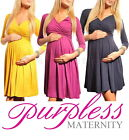 New Ladies MATERNITY DRESS V-Neck Pregnancy Size 8 10 12 14 16 18 Top 4400