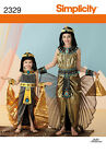 PATTERN SIMPLICITY Cleopatra Egyptian Princess 3 to 14 Halloween Costume 2329