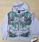 TAPOUT BOYS LOGO PRINT COTTON/POLY ZIP-UP HEATHER HOODIE SZ M-XL LIST $48