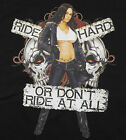 Ride Hard Or Dont Ride At All T-Shirt Black Sexy Girl Biker BABA