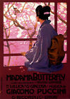 Opera Madama Butterfly Giacomo Puccini Music Vintage Poster Repo FREE SH in USA