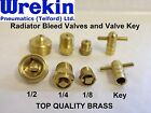 Radiator Bleeding Valves & Key Quality Brass 3mm 6mm 13mm Plumbing Tool