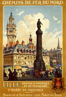 Lille Museum Province French France Tourism Travel Vintage Poster Repro FREE S/H