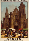 Senlis Oise Paris Cathedral Church France French Vintage Poster Repro FREE S/H