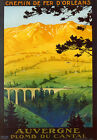 Province of Auvergne Train France French Travel Trip Vintage Poster Repo FREE SH