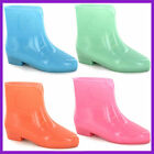 WHOLESALE Ladies GLOW IN THE DARK PVC Ankle Welly   Sizes 3-8 x14prs   X1197
