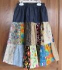 Ladies Modest Denim & Patchwork Prairie Skirt - Custom Made