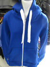URBAN DIVA LADIES GIRLS ROYAL BLUE PLAIN HOODED TOP ZIP UP HIPHOP JACKET HOODIES