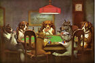 Friend in Need Dogs Playing Poker Cards Bull Dog Art Print Repro FREE S/H