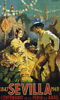 Sevilla Seville Spain 1948 Party Tourism Travel Vintage Poster Repro FREE S/H