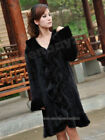 100% Real Knitted Mink Fur Long Coat Outwear Jacket Deluxe Custom Full Length