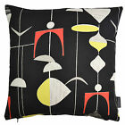 Sanderson Mobiles Retro Vintage 50s 60s 70s Atomic Fabric Cushion Cover - Black