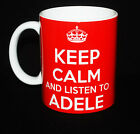 NEW KEEP CALM AND LISTEN TO ADELE GIFT MUG CARRY ON COOL BRITANNIA RETRO CUP