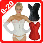 New Embroidered Angel Lace Up Corset Fancy Dress Hens Night Party Costume Bridal
