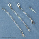 SILVER-PLATED/Tone Safety or EXTENDER CHAIN Custom Handmade Ur Style/Length B3L
