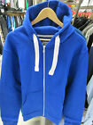 URBAN DIVA UNISEX ROYAL BLUE PLAIN HOODED ZIP UP HIPHOP JACKET 16 18 20 HOODIE