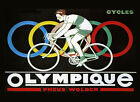 Olympic Bicycle Cycles Race Sport France French Vintage Poster Repro FREE S/H