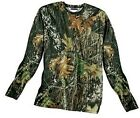 Внешний вид - Mossy Oak Camouflage Dri Fit Wick Long Sleeve t shirt Camo Small Medium NEW