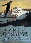1914 Ski Winter Sport Jump Nice Alps France French Vintage Poster Repro FREE S/H