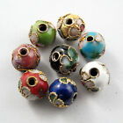 Cloisonne Enamel Round Spacer Bead 8Colors-1 Or Mixed 6mm Or 8mm