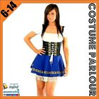 Womens German Oktoberfest Beer Maid  Ladies Fancy Dress Costume Sizes 6 - 14