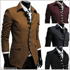 THELEES (737) Mens Casual Slim 8 Button Jacket Blazer 4 COLOR