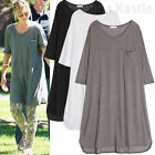 AnnaKastle New Womens Oversize Soft T shirt Dress AU