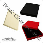1 Jewellery Gift Box 18x14x2.5cm for Ear Rings Bracelets Necklaces 3 Colours