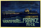Grand Hotel Nice France French Tourism Travel Trip Vintage Poster Repro FREE SH