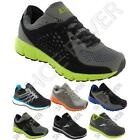MENS RUNNING TRAINERS BOYS BLACK CASUAL WALKING GYM JOGGING SPORTS SHOES SIZE