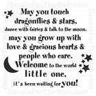 May You Touch Dragonflies and Stars Dance Girl Wall Decal Vinyl Art Sticker B19