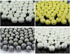 100pcs Stardust Round Spacer Beads Silver Gold Gunmetal Plated 8mm 10mm 12mm