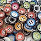 pink/green/blue/yellow/orange/black round button lots 11mm 2 holes sewing crafts
