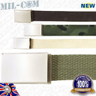 Milcom 40mm Army Military Style Cotton Webbing Adjustable Belt with Metal Buckle