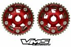 VMS HONDA ACURA B SERIES ENGINES ADJUSTABLE BILLET CAM GEARS PAIR QTY 2 RED