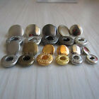 """100 Leather Rapid Rivet Button Snaps Fasteners 10mm 12mm 15 3/8""""1/2"""" 5/8"""" COLOR"""