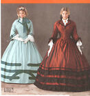 Civil War Southern Belle dress 2Sew PATTERN Historical Simplicity 1818 sz 8-24