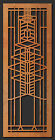 "Frank Lloyd Wright ROBIE House Window Design WALL Element 31.5""h CHOICE"