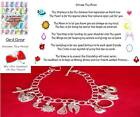 BFF Across The Miles Friendship Theme Charm Bracelet Gift Set Silver Traditional